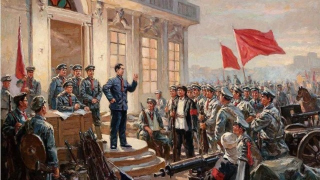 庆祝中国人民解放军建军93周年,向军旗敬礼